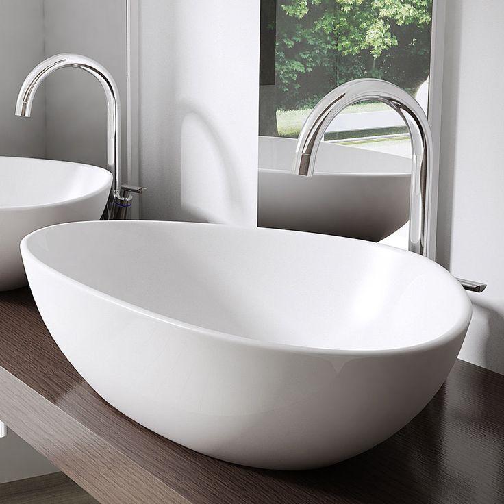 Keramik Waschschale Wandmontage Waschbecken Waschtisch 67x44x15 cm BL895 WOW in Heimwerker, Bad & Küche, Badkeramik | eBay!