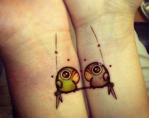 Correspondência de pássaros do amor de tatuagens de pulso http://tatuagens247.blogspot.com/2016/08/requintado-ligar-desenhos-de-tatuagem.html