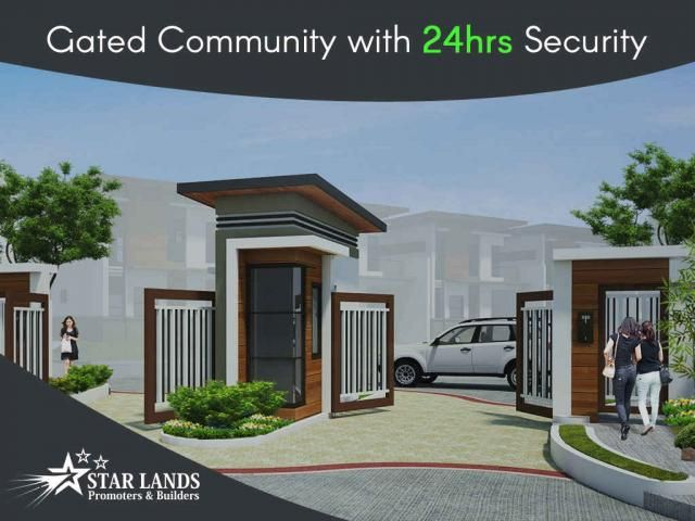 Gated Community #Gated community with 24hrs #security Our services are highly reliable and affordable, we believe in the value of hard work, passion and determination. We are providing our clients with 24hrs security. We ensure your #safety, just call : Star Lands Promoters & Builders – 95006 45566