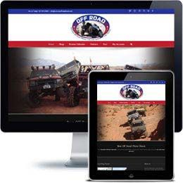 Extreme Off Road Company website built with E-commerce using responsive web design.