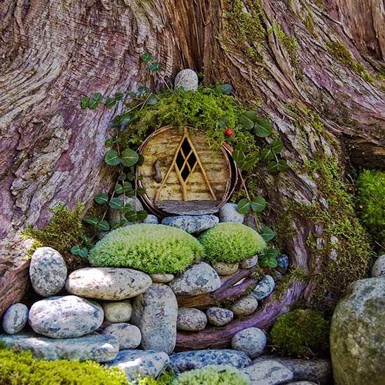 Gnome Garden: 4914 Best Fairy Gardens Images On Pinterest