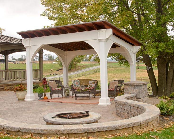 Santa Fe Cedar Pavilion Wooden pavilion, Outdoor