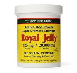Royal Jelly is a creamy substance produced by bees which is fed to the queen bee, transforming her into a queen whom will lay over 2,000 eggs per day. Rich in amino acids, lipids, vitamins, and proteins; royal jelly also contains vitamins D and E, and provides iron and calcium. Royal jelly has been used traditionally to support health and longevity.