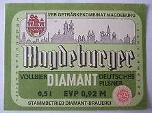 bier magdeburg ddr   DDR-Bier-Etikette - Diamant-Brauerei, Magdeburg, Pils kaufen bei Hood ...