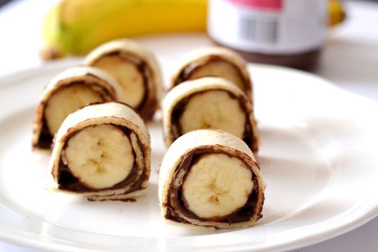 """Banános nutellás """"sushi"""" tekercs recept"""