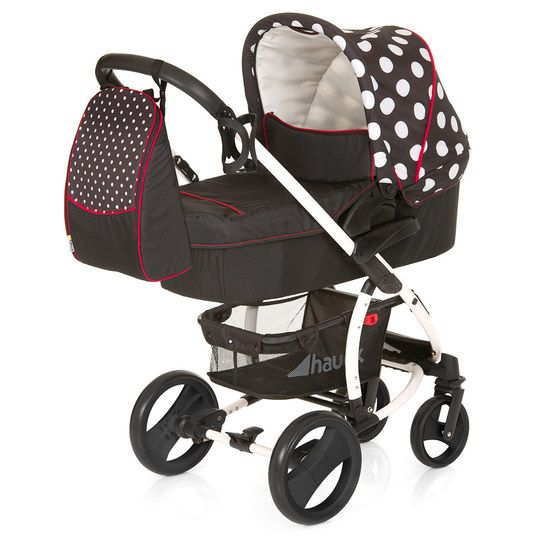 Hauck - Kinderwagen-Set Malibu XL All in One - Dot Black - Babyartikel.de