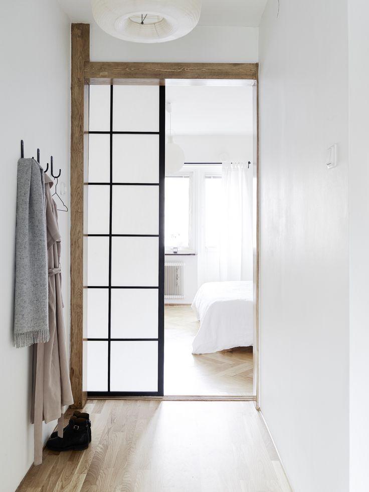 Beams and sliding door