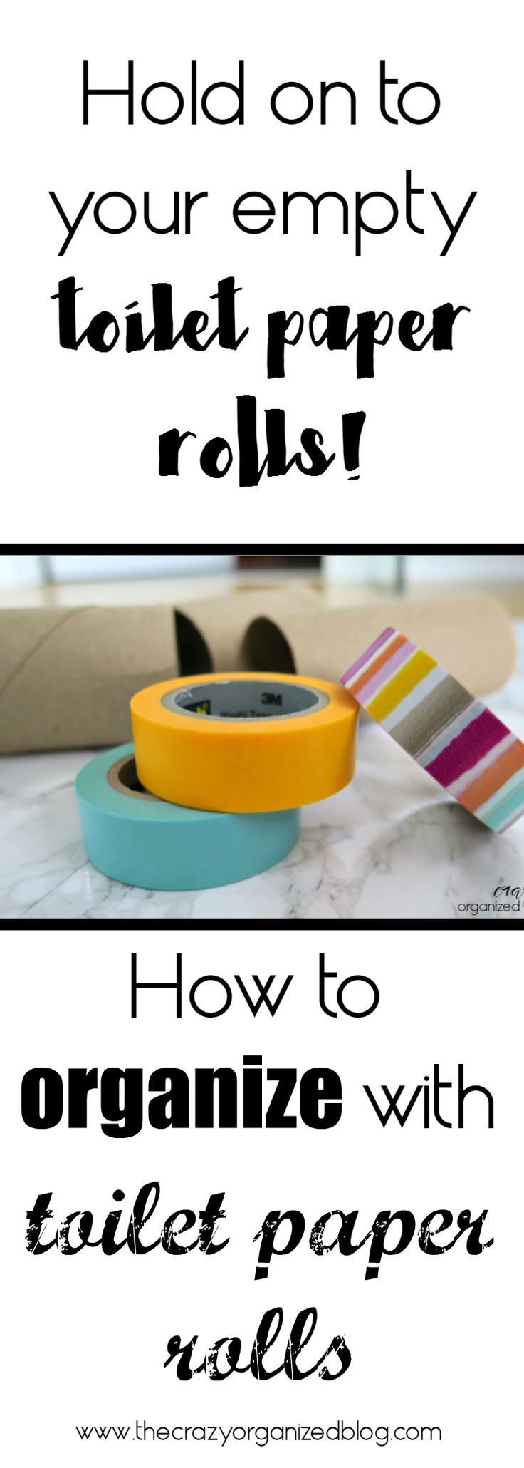 Hold on to those empty toilet paper rolls ... Yes, you can put them to use! ORGANIZE your home!
