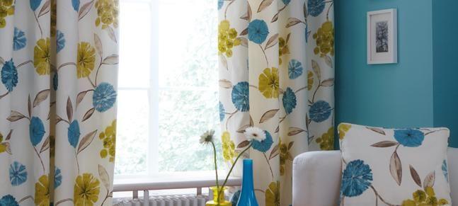 Teal Freya Curtain Collection