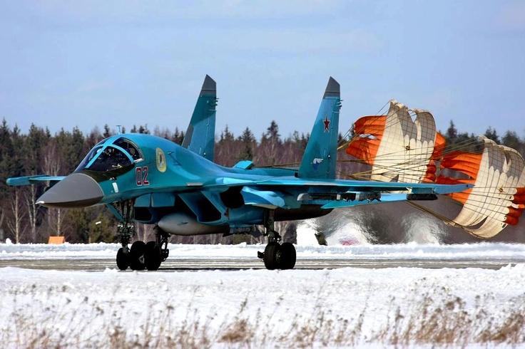 Su-34 Fullback Landing