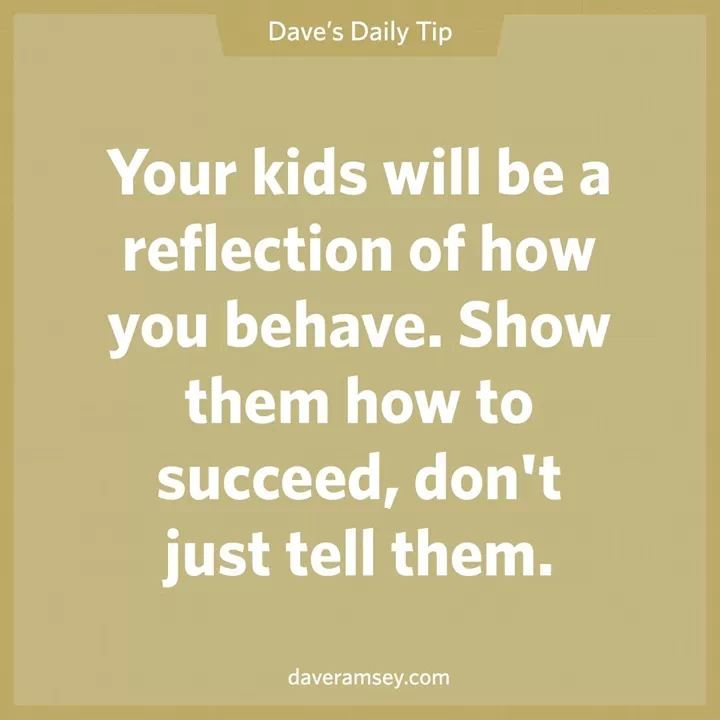 Dave Ramsey Quote. Reason to finish school.  So one day when I have kids.. they see what I have accomplished.