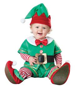 LOL! I think this is a must have for Christmas pictures this year! =>Baby elf costume - Chasing Fireflies