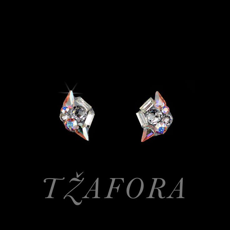 """Outside Basic"" - Swarovski ballroom earrings. Ballroom dance jewelry, ballroom dance dancesport accessories. www.tzafora.com Copyright ©️️️️️️️ 2017 Tzafora."
