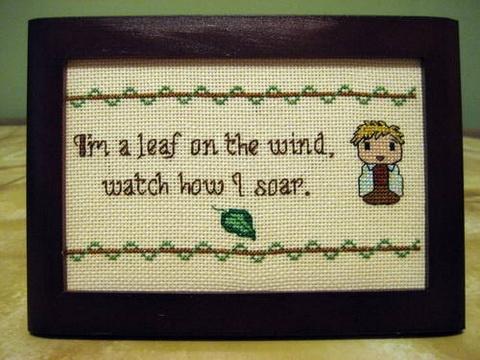 Wash cross-stitch!