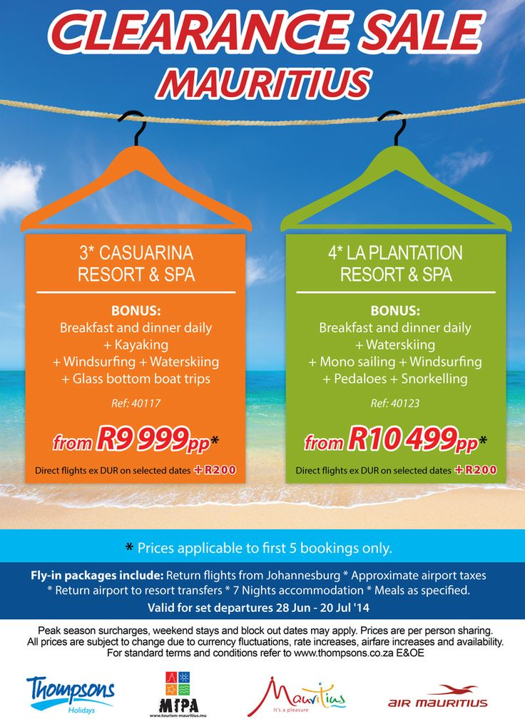 Don't miss out on our hot Mauritius deals this week. It's our amazing Mauritius clearance sale!