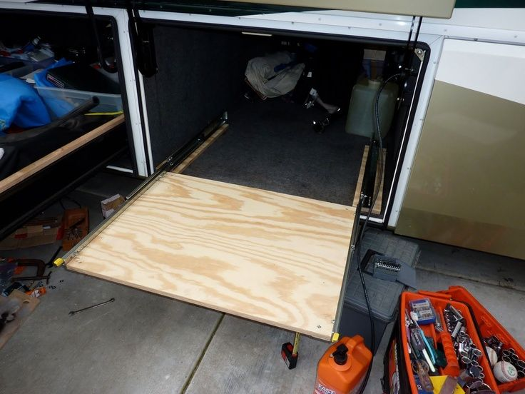Build your own RV slide-out storage tray