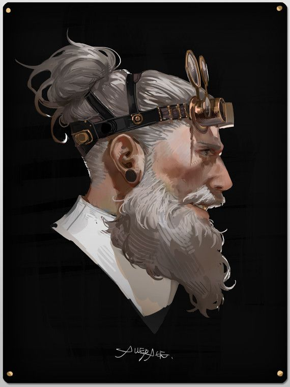 old man, alle page on ArtStation at https://www.artstation.com/artwork/yKBLn
