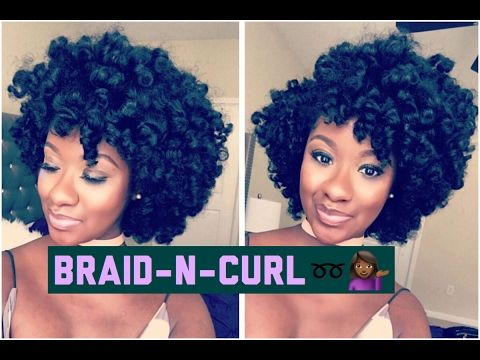 SUPER DEFINED Braid & Curl on Natural Hair - YouTube