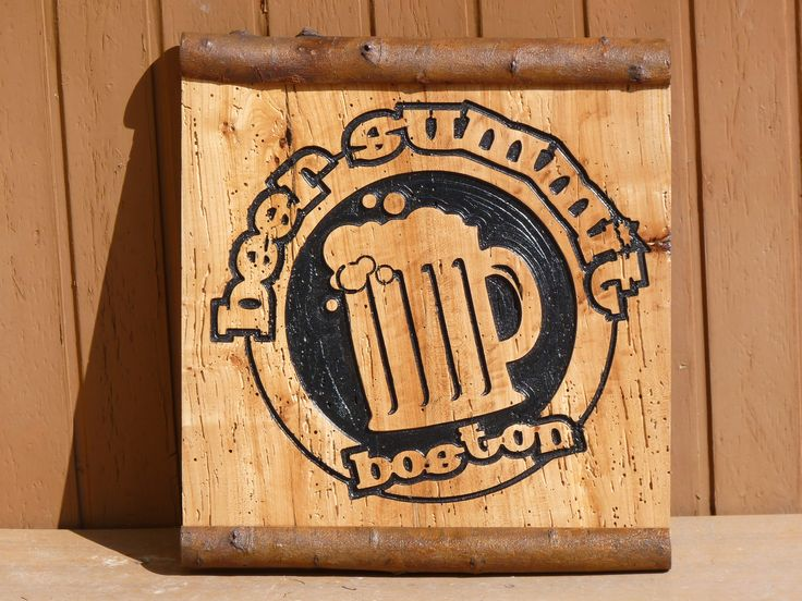 Beer Summit Boston Incisione colorata su tavola di rovere