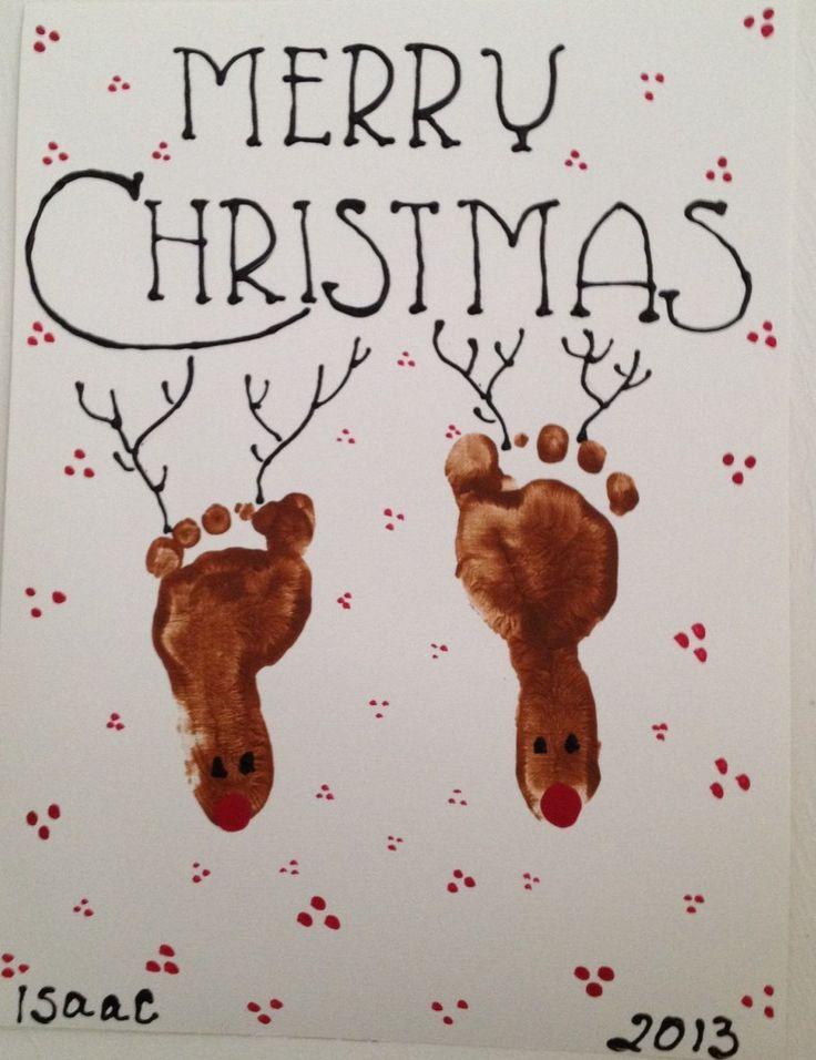 DIY Reindeer Footprint {Great Craft for Little Ones!}