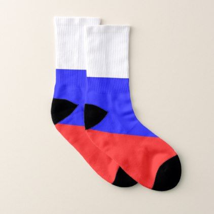 All Over Print Socks with Flag of Russia - trendy gifts cool gift ideas customize