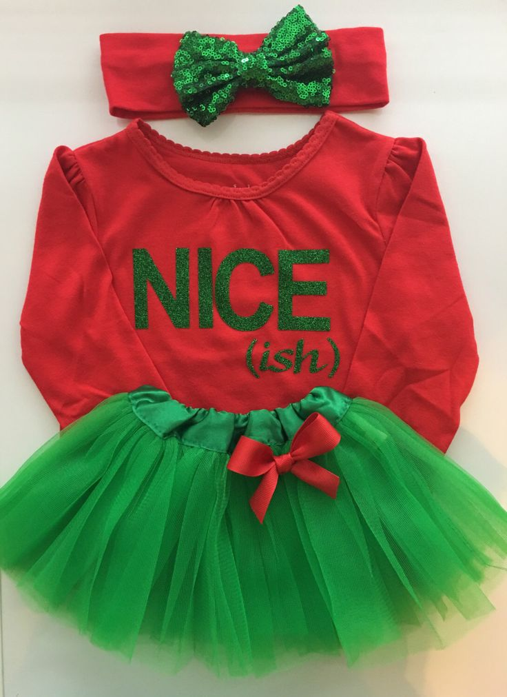 Girl's Christmas  outfit - Nice (ish)- funny christmas outfit - kids christmas - toddler girl christmas clothes - 3 piece set by AboutASprout on Etsy https://www.etsy.com/listing/490316145/girls-christmas-outfit-nice-ish-funny