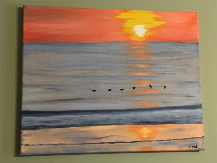 Daytona Beach-oil on canvas by Carol Rich