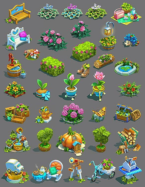 Several 3D models for the farm game  All concepts and models
