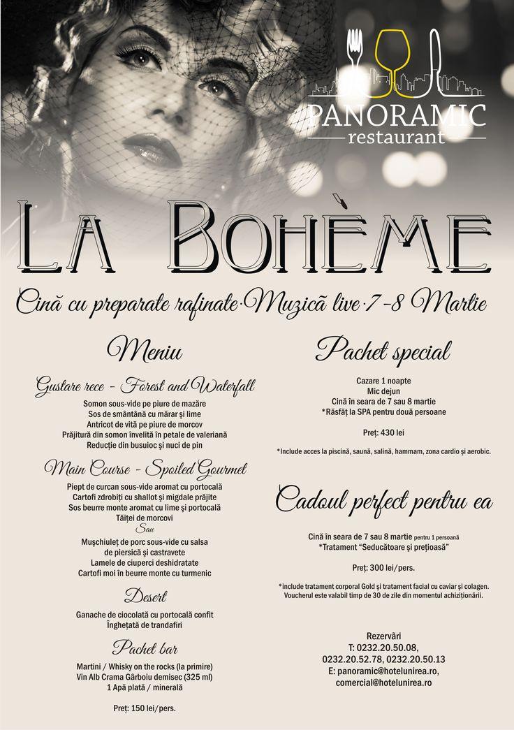 Cină cu preparate delicioase la Restaurant Panoramic 13 | 7 şi 8 Martie