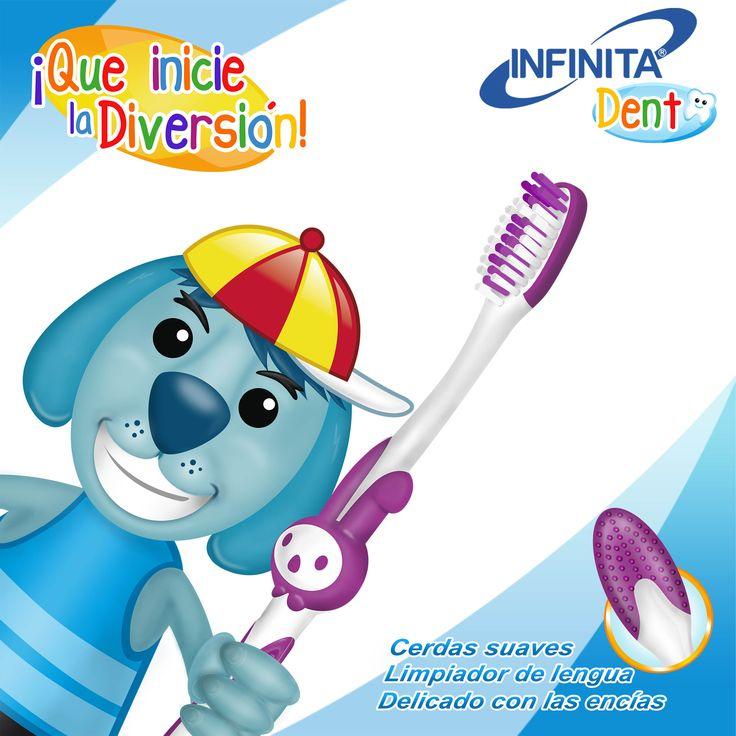 Cerdas suaves, limpiador de lengua y con divertidos colores y personajes.  Cepillarse los dientes nunca había sido tan divertido.  ¡Que inicie la Diversión!   #salud #limpieza #diversión