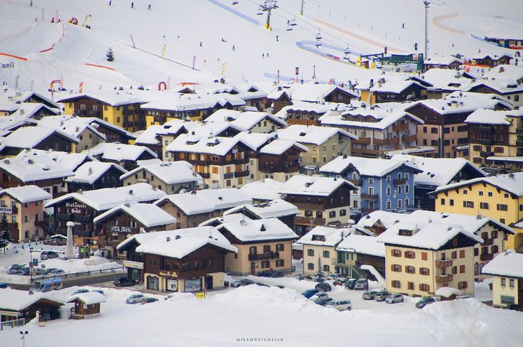 Livigno center - a picture of the center of Livigno taken with a medium tele.