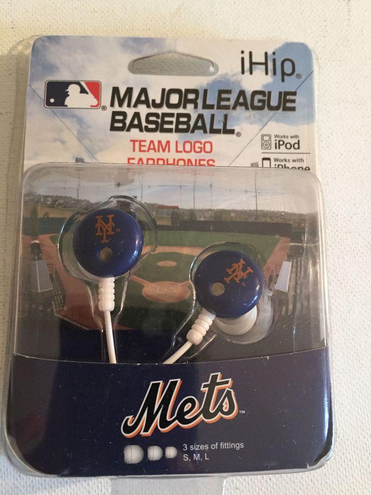 MLB NY Mets Team Logo Earphones #ihip #NewYorkMets