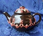 Tatted Tea Pot 0636