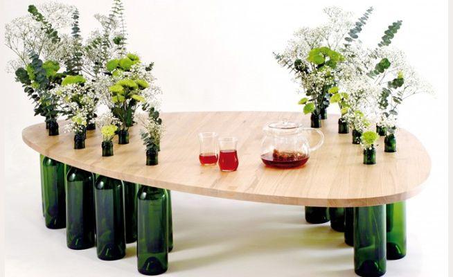 10 formas de reutilizar una botella de vino vacía