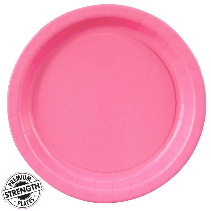 Candy Pink (Hot Pink) Dinner Plates from BirthdayExpress.com