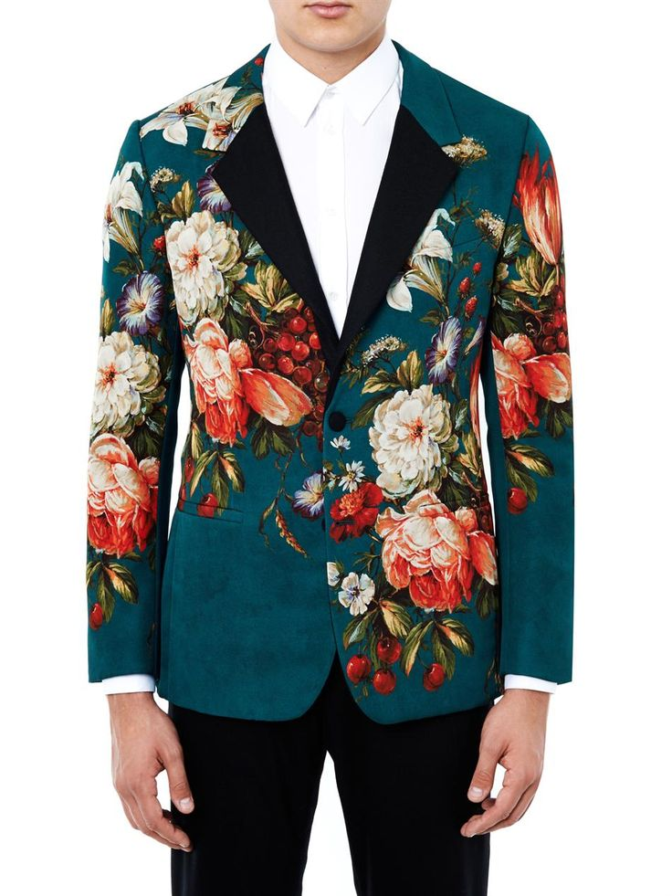 Floral Print Single Breasted Jacket Dolce Amp Gabbana