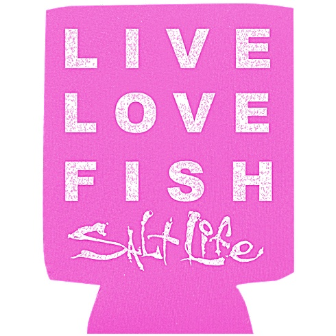 Live Love Fish Salt Life Koozie - - Salt Life
