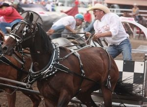 Jason Glass, here at the Calgary Stampede on July 8, won his first Rangeland Derby championship on Sunday.