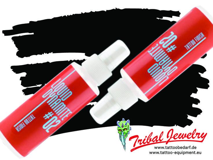 Liquid Dynamite #02 Tattoo Finish bei Tribal Jewelry!  - Sprühlösung zur finalen Nachsorge frischer Tattoos vor dem Verpacken - mildert die Begleiterscheinungen des Tätowierens - beruhigt die Haut - mit Gurkenwasser - vegan - erhältlich als 100ml-Sprühflasche