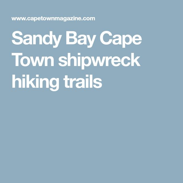 Sandy Bay Cape Town shipwreck hiking trails