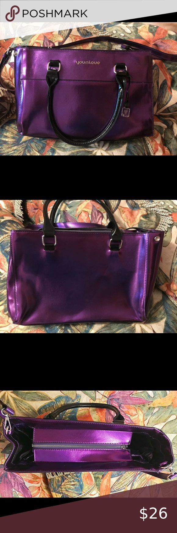 Purple Younique Tote/Makeup Bag Like New in 2020