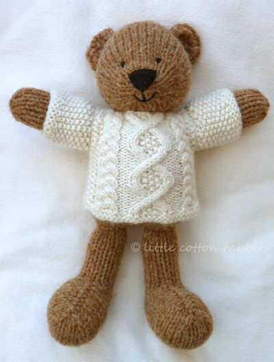 Knit.Cute Bear several cute critter knit patterns for sale
