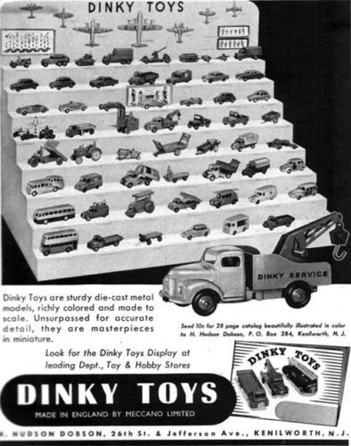 Dinky-Toys-Die-Cast-Metal-Models-Display-SERVICE-TRUCK-Meccano-Ltd-1953-Print-Ad