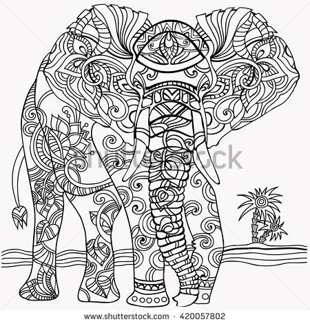24 best y Blank Pattern Elephants images on Pinterest | Coloring ...