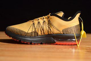 reputable site f95d3 32ccf Mens Nike Air Max Sequent 4 Running Shoes Utility Desert Ore Yellow Sliver  Black Brown AV3236 202