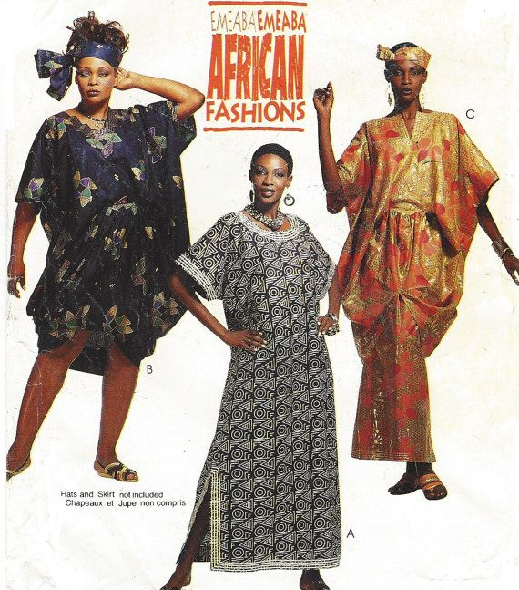 90s Womens African Fashions Caftans and Tunic by CloesCloset