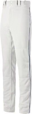 Baseball Pants 181349: Mizuno Select Pro Piped Pant - Youth - White Navy - Small 350388-Wht Navy-Sm -> BUY IT NOW ONLY: $39.95 on eBay!