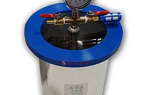 710Vacs Chambre sous vide de dégazage en acier inoxydable de 6,8L: 1.5 Gallon dégazage chambre 50 microns avec filtre et raccord de tuyau…