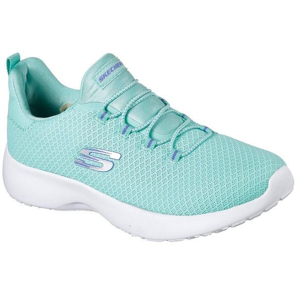 Skechers Women's Dynamight Blue - Skechers ($50) ❤ liked on Polyvore featuring shoes, blue, skechers shoes, blue shoes, slip on shoes, skechers and mesh slip on shoes
