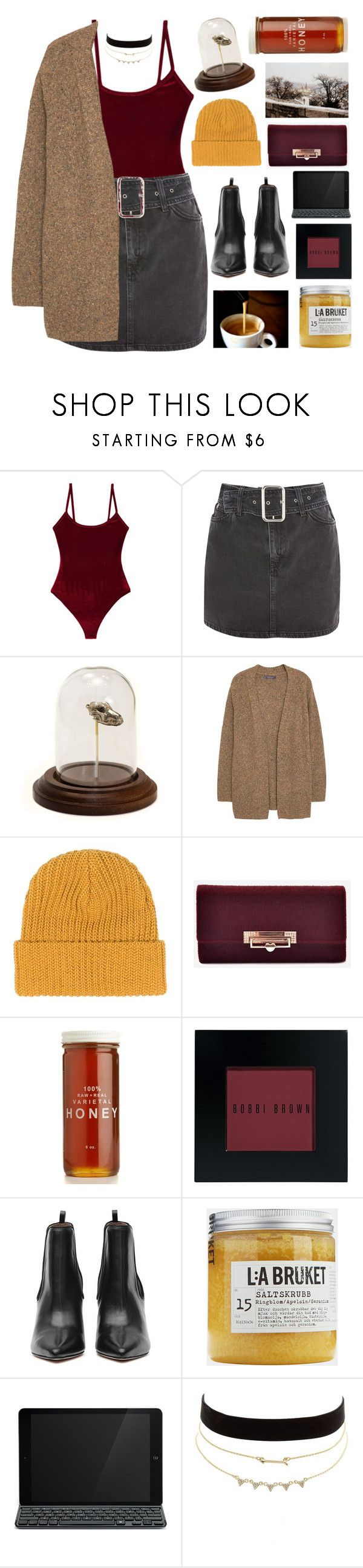 """""""Untitled #3065"""" by tacoxcat ❤ liked on Polyvore featuring Alix, Topshop, Violeta by Mango, Bobbi Brown Cosmetics, Toast, Logitech and Charlotte Russe"""